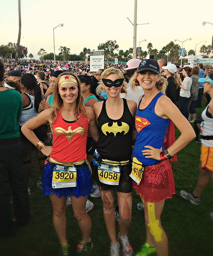 "The ""Girls of Team Sparkle"" at The Long Beach Half Marathon"