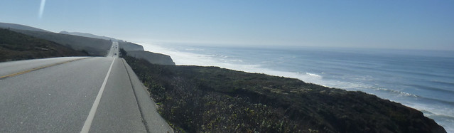 south on Highway 1 between San Gregorio and Pescadero