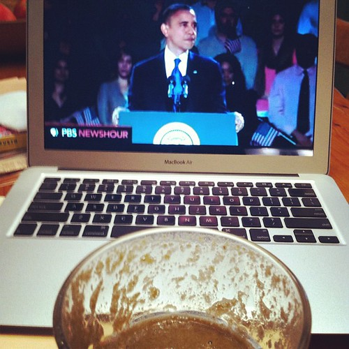 @barackobama and #greendrink for breakfast. #firedup !!!!