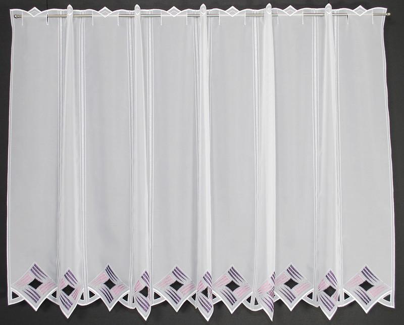 16 cm breite scheibengardine moderne lochstickerei 90 cm hoch ebay. Black Bedroom Furniture Sets. Home Design Ideas