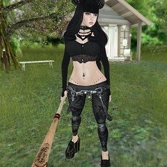 #sl #secondlife #avatar #baseballbat #dark