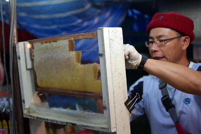 Sliced bee hive