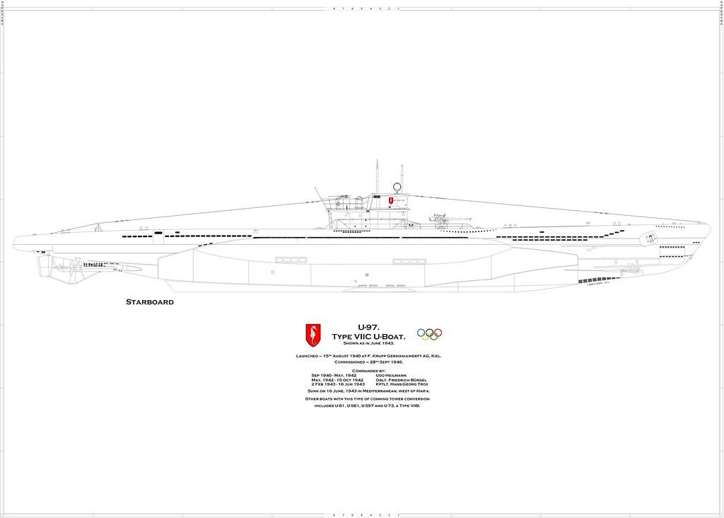 U-97 | This U-boat had a very active career, mostly in the M ... U Boat Schematics on