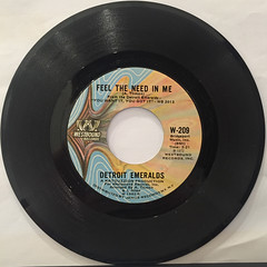 DETROIT EMERALDS:FEEL THE NEED IN ME(RECORD SIDE-A)