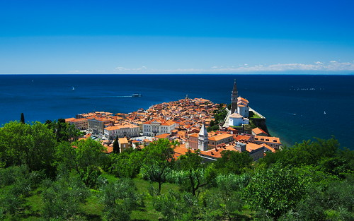 sea landscape town sunny medieval slovenia piran d7100 tropmor
