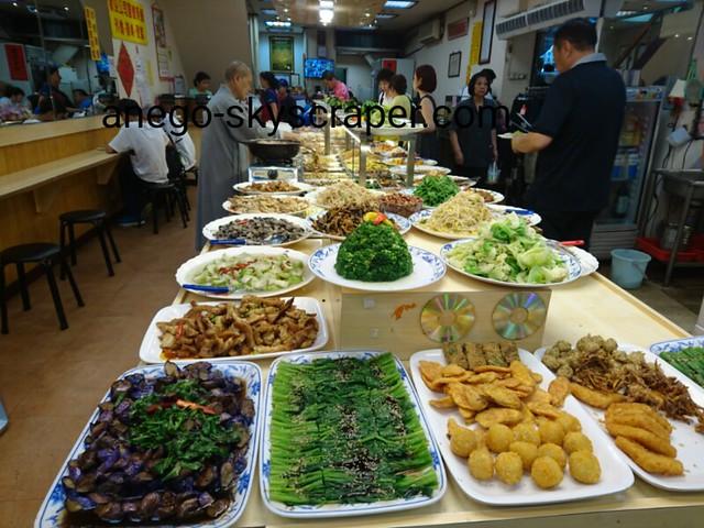 城中市場の近くの素食