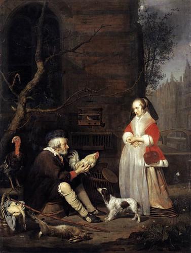 Gabriel Metsu - The Poultry Seller