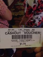 Cashout Voucher (New York New York, Las Vegas)