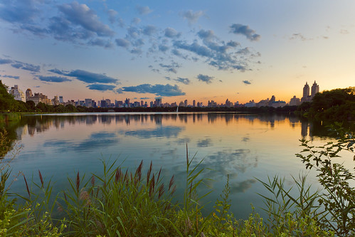 View from the Jacqueline Kennedy Onassis Reservoir in Central Park by Lisa Bettany {Mostly Lisa}