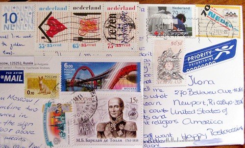 Show and Mail: today's foreign postcard stamps