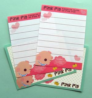Q-lia Pink Pig Mini Memo