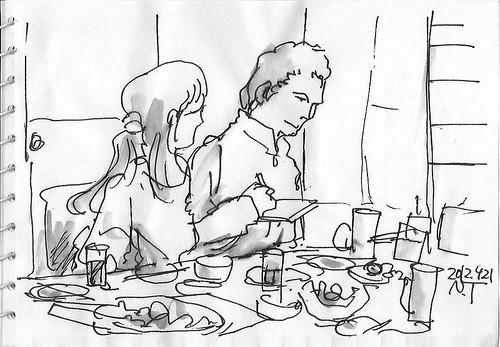 スケッチクロール夕食会 2 The dinner