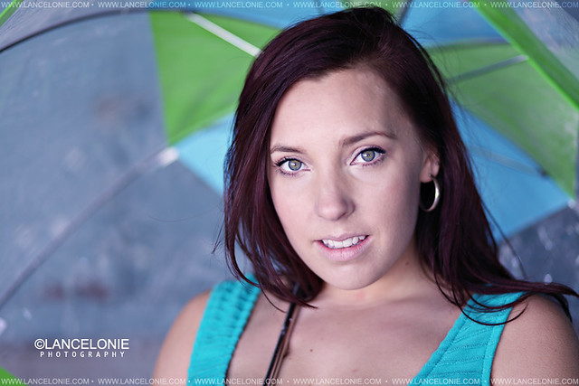 Lisa Kap with umbrella by lancelonie photography