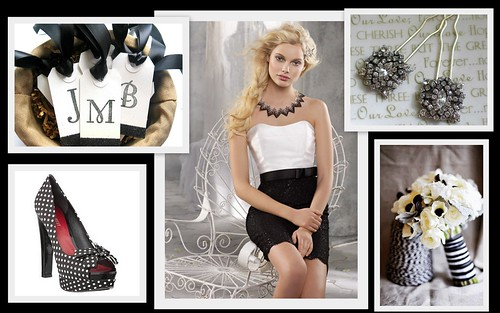 {Wedding Color Inspiration} Black + White by Nina Renee Designs