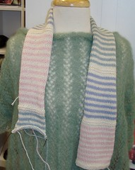Learn To Knit Spring Scarf