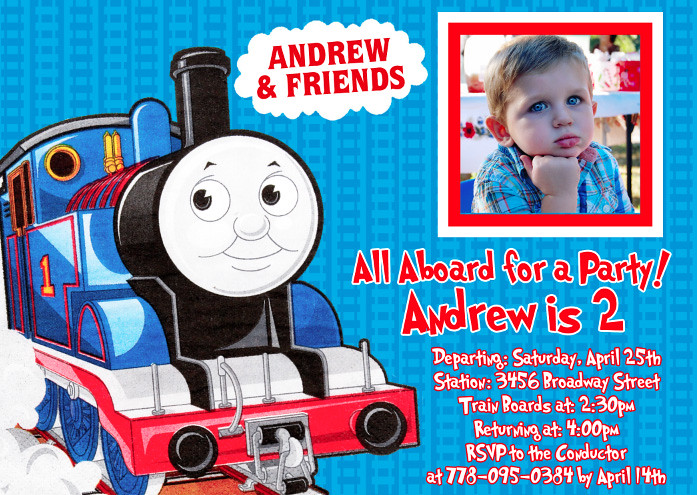 Thomas Train Custom Birthday Invitation