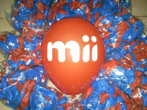 豆豆氣球, 客製化廣告印刷氣球, mii機車