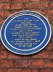 Photo of Charles Pelham Villiers blue plaque