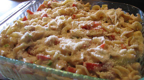 Mediterranean Tuna-Noodle Casserole - Can Cook, Will Travel