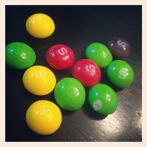 Playing the color game with Skittles