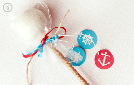 Nautical Cake Pop Favors