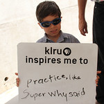 KLRU inspires me to... practice, like Super Why said.