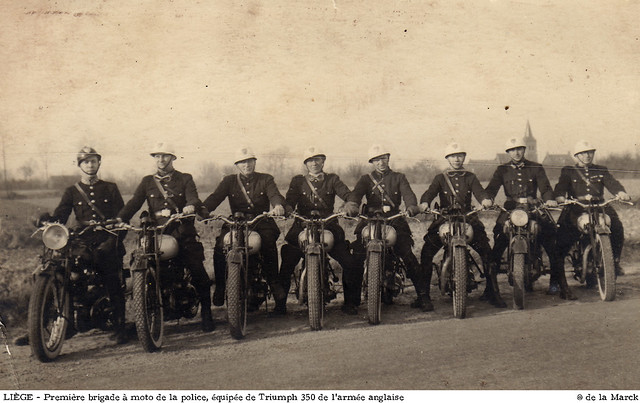 Première brigade à moto de Liège
