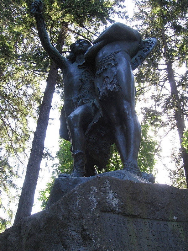 """The Coming of the White Man"", Washington Park"