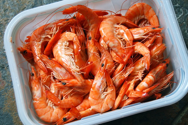 Hot King Prawns In Garlic Butter #prawns #shrimp #shellfish #seafood