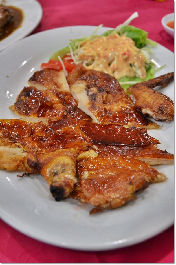 Crispy Roasted Chicken with Stuffed Fish Paste