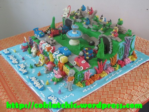 Cake Thomas, Cars dan Spongebob