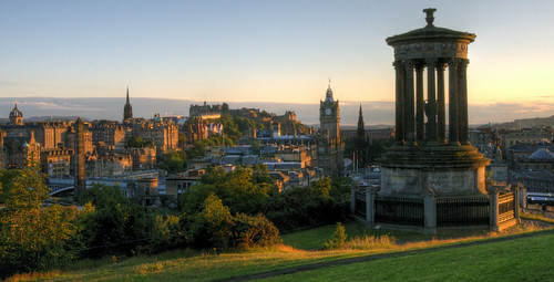 edinburgh summer sunset