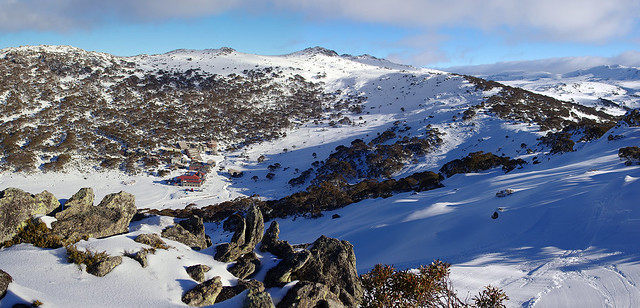 Charlotte Pass Village panorama #2 - viewed from top of Guthries