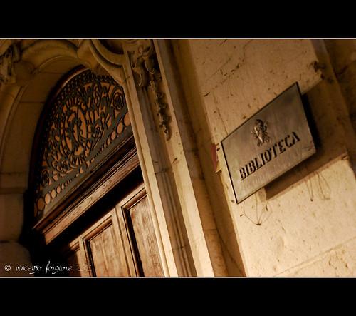 Porta principale della Biblioteca Provinciale di Benevento