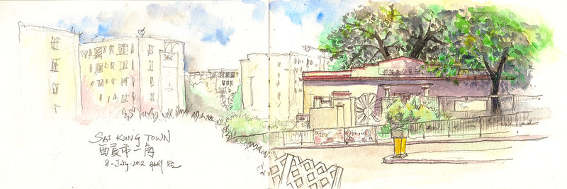 Quick Sketch of Old Sai Kung Public School 西貢公立學校速畫