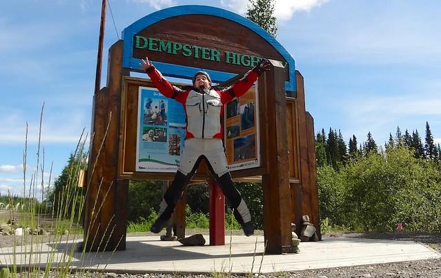 Sara Air time Dempster Highway sign