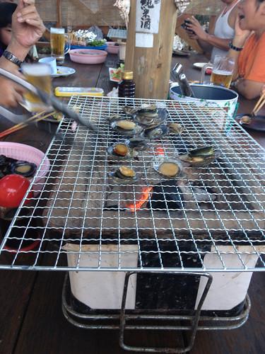 貝のバーベキュー