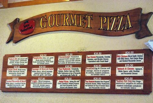 JT - special pizzas
