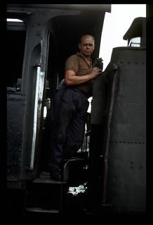 027. 1980-12. Germiston (SA) Locomotive Depot - South African Railways.