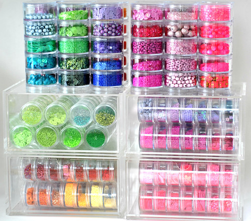 All my beads and sequins stored!