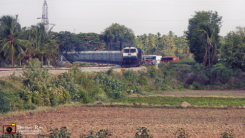 railroad train railway loco gradient locomotive curve indianrailways emd birur gmemd wdp4
