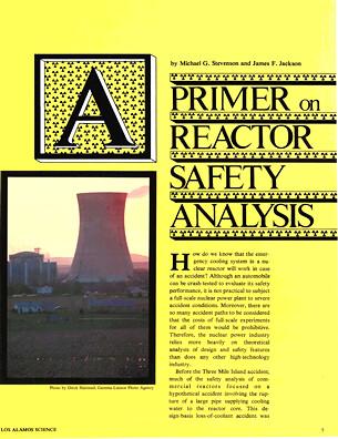 Primer on Reactor Safety Analysis