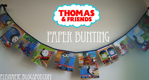 thomas the train bunting paper 1