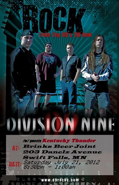 07/21/12 Division Nine/ Kentucky Thunder @ Brinks Beer Joint, Swift Falls MN,