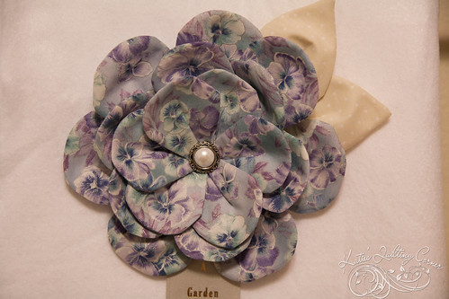 Fabric Flowers - quilt show ribbons