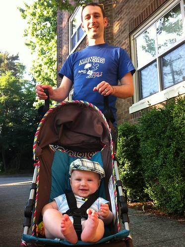First Stroller Ride!