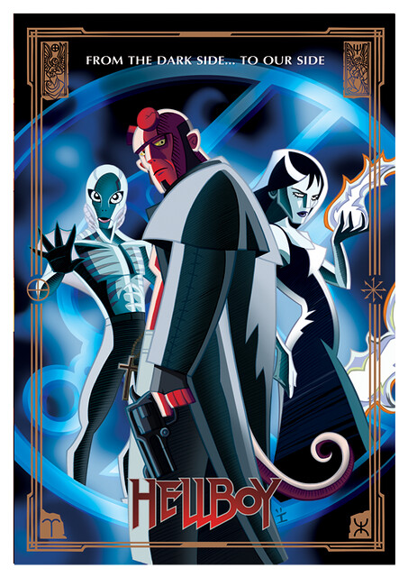 Posters de Filmes em animações hellboy