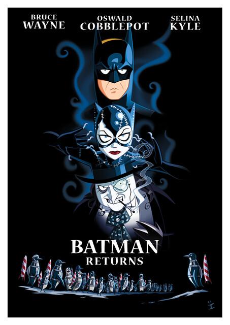 Posters de Filmes em animações batman