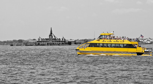 water taxi bw by Alida's Photos