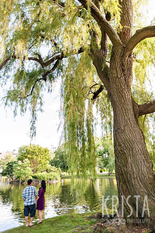 Boston Public Garden Engagement Session